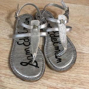 Sam Edelman Silver Gladiator Thong Strappy Sandals